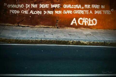 Foto di Raoul Tomei. A Carlo. Genova