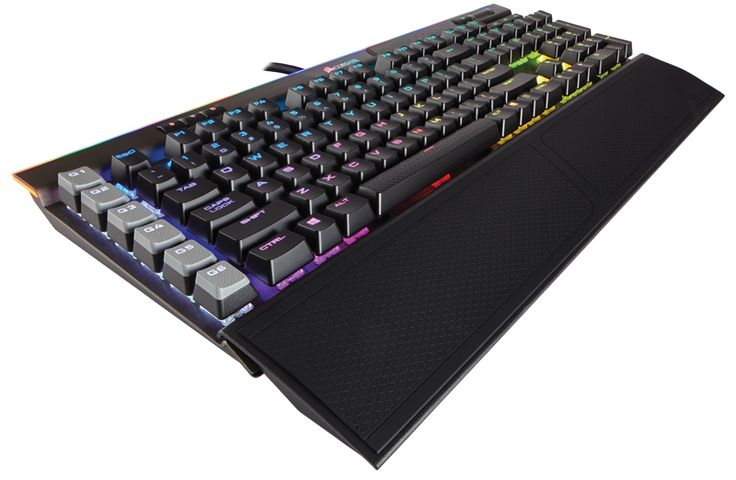CORSAIR K95 RGB PLATINUM features CHERRY MX Speed keyswitches backed by a lightweight aluminum frame. 8MB profile storage with hardware macro and lighting playback enable profile access independent of external software.