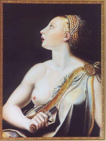 Lucrezia (da Parmigianino, 2000) - Olio su tela