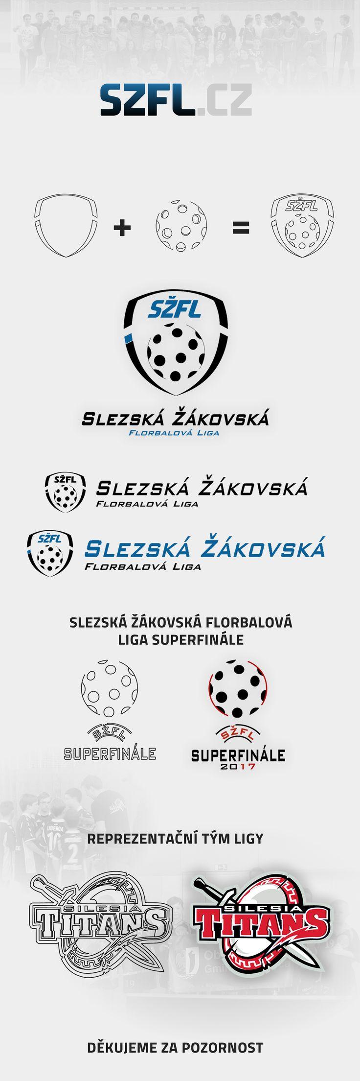 Brand of Slezská žákovská florbalová liga on Behance