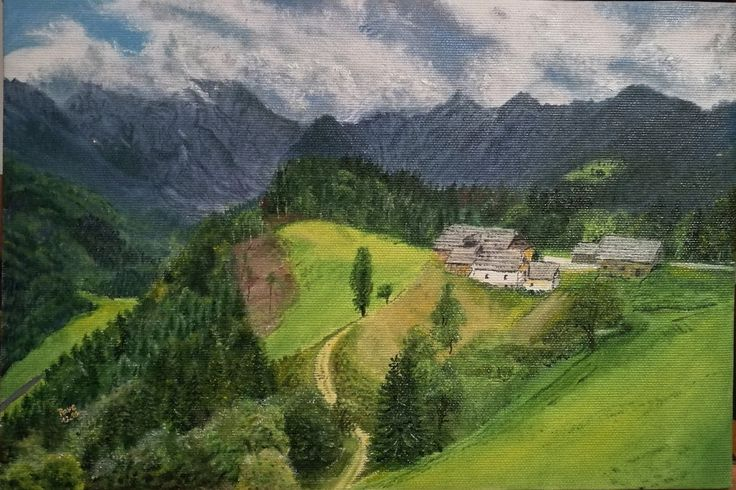 Mountains oil painting by NotOKFun on DeviantArt