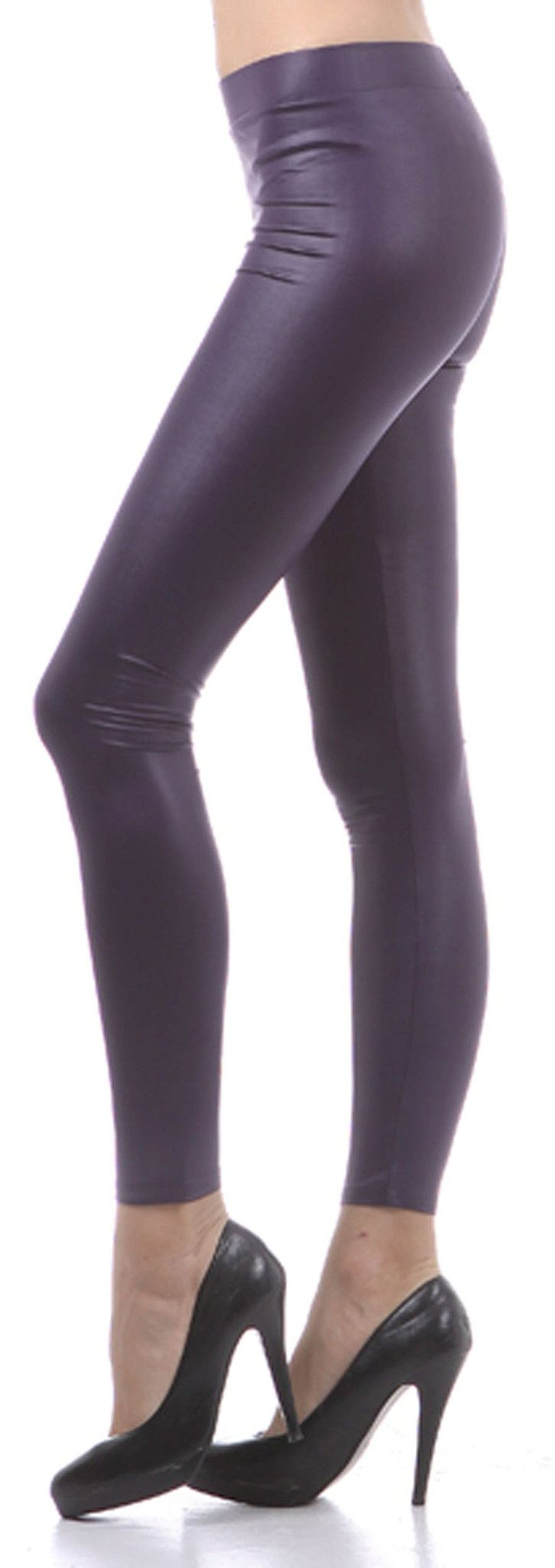 Small ( Size 2-4 ), Medium ( Size 6-8 ), Large ( Size 10-12 ), X-Large(14-16) Features Matte Liquid Sheen Fabric, Ultra Slim Fit ( very limited stretch to these leggings, please check your measurement