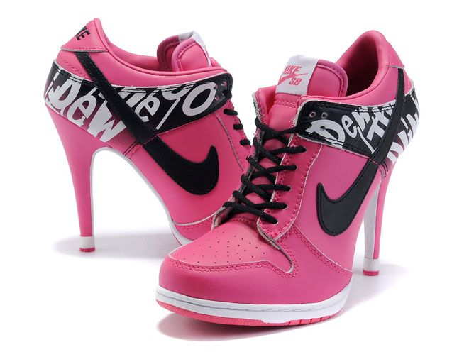 Hmmm high heels (check) color pink (check) sneakers (check??)
