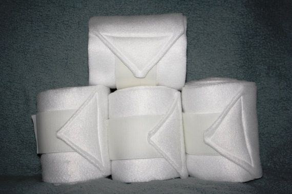 Dressage White Polo Wraps set of four by reynola770 on Etsy