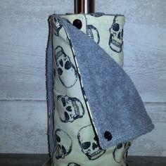 Essuie-tout lavable 100% coton doublé éponge clipsable par pressions