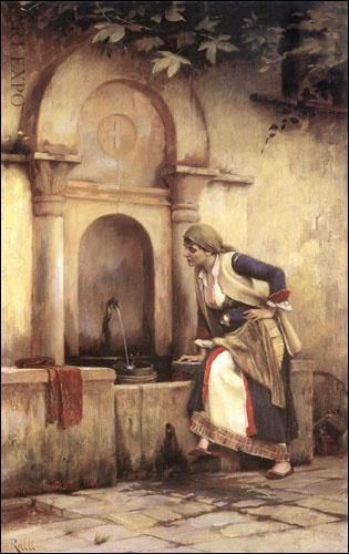 """Ράλλης Θ.    """"Γυναίκα στη βρύση"""""""