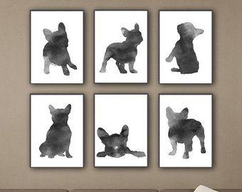 Herten hoofd Set van 3 grijze Minimalist door ColorWatercolor