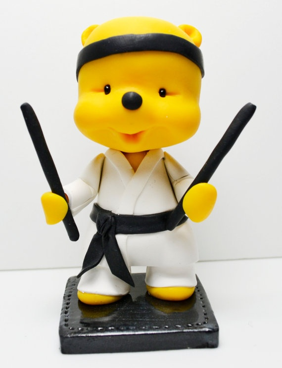 Karate Figures Cake Topper