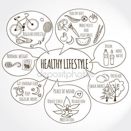 Stáhnout - Zdravý životní styl — Stocková ilustrace #59616065