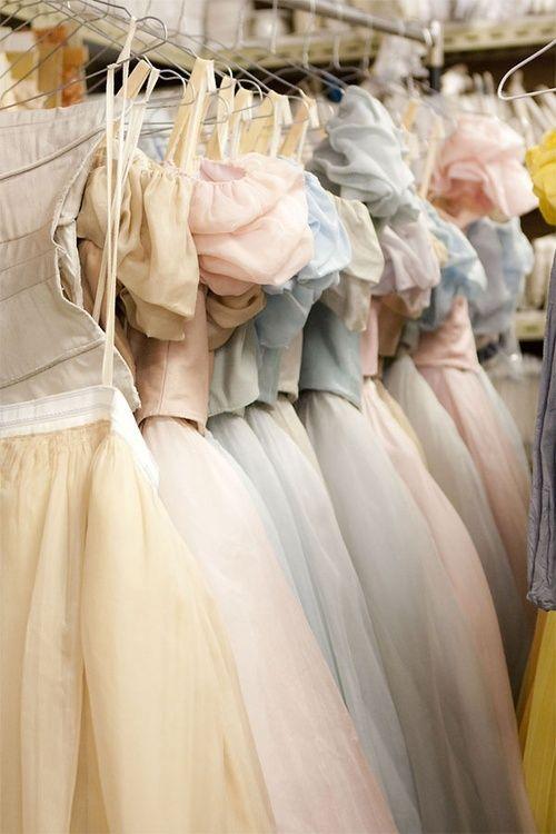 Pastel ballet costumes.  Inside the wardrobe: Onegin| Behind Ballet