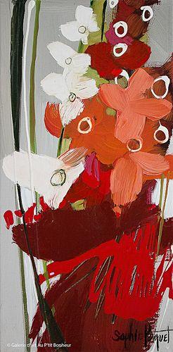 Sophie Paquet, 'Glaïeuls en fleur', 8'' x 16'' | Galerie d'art - Au P'tit Bonheur - Art Gallery