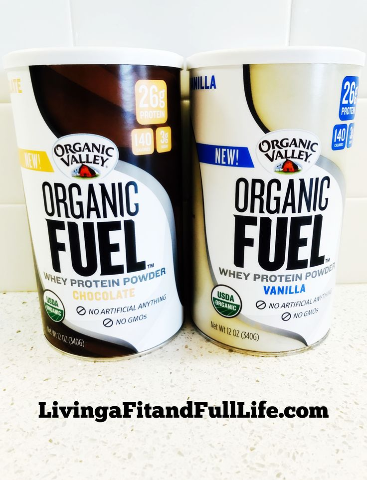 Recover Faster with Organic Valley's New Organic Fuel Vanilla & Chocolate Organic Whey Protein Powder!