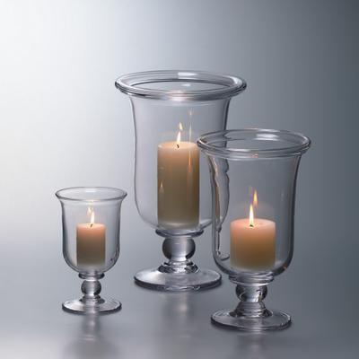 Blown glass hurricanes, Made in USA, Simon Pearce. #dining #bridalregistry