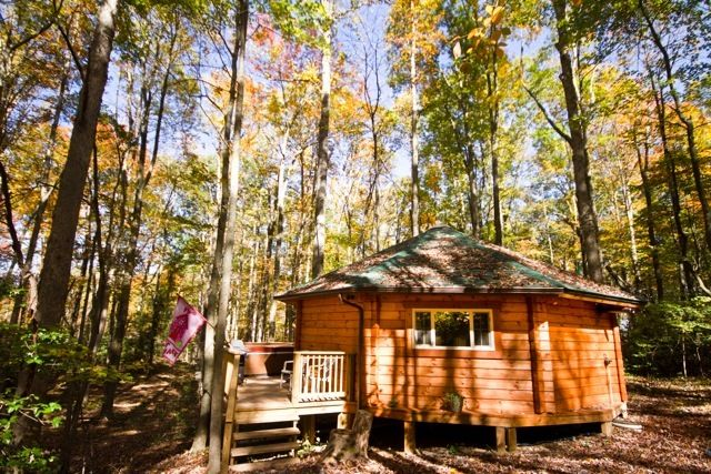 A log yurt called the love shack at country road cabins for The love shack cabin