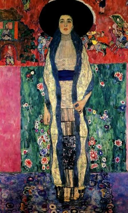 Klimt ..........portrait of Adele Bloch - Bauer who perished in the Holocaust.  http://www.rapeofeuropa.com/stolenRestitutions.asp