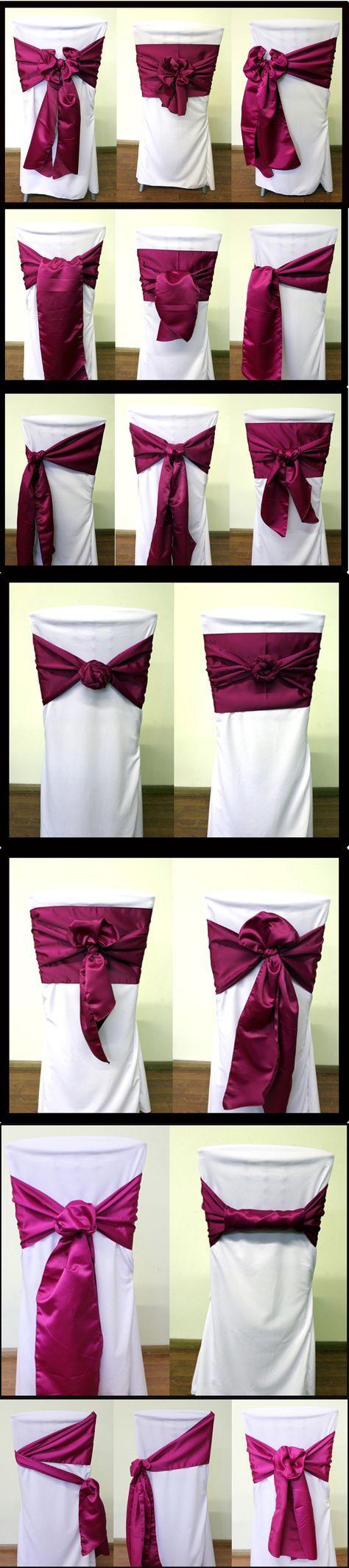 18 ways to tie a chair sash