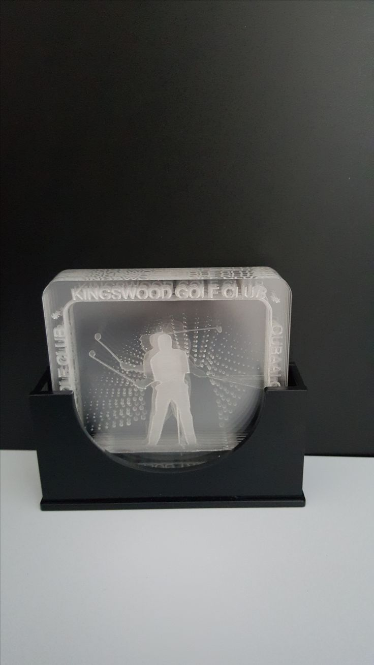 Made by www.lasercandy.co.za #LaserCandy#PerspexCoasters#Golf#GeorgeGolfCourses#ClearPerspex#LaserCut#LaserEngraved