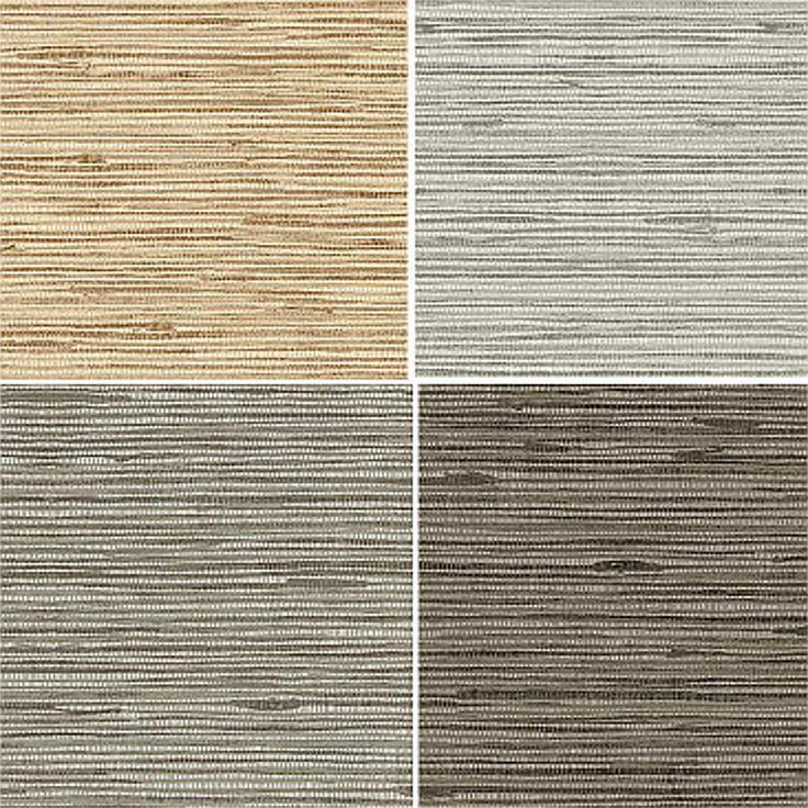 Textured Heavy Vinyl Faux Natural Horizontal Grasscloth Wallpaper…