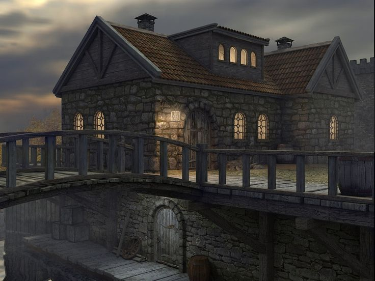 Riften by Minomi9 medieval building bridge city inn landscape location environment architecture | Create your own roleplaying game material w/ RPG Bard: www.rpgbard.com | Writing inspiration for Dungeons and Dragons DND D&D Pathfinder PFRPG Warhammer 40k Star Wars Shadowrun Call of Cthulhu Lord of the Rings LoTR + d20 fantasy science fiction scifi horror design | Not our art: click artwork for source