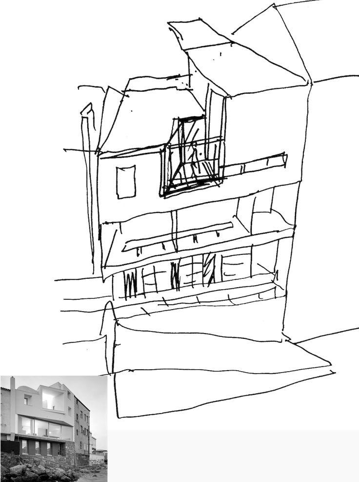 David Chipperfield, sketch, spain house