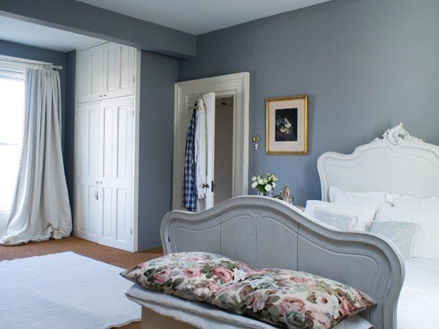Quarto de casal: Wall Colors, Romantic Bedrooms, Bedrooms Design, Grey Wall, Bedrooms Interiors, Bedrooms Decor Ideas, Bedrooms Ideas, Bedrooms Wall, Beautiful Bedrooms
