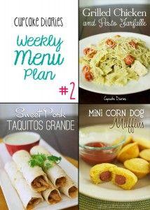 Weekly Menu Plan #2