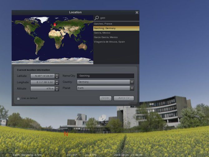 Stellarium screenshot gallery