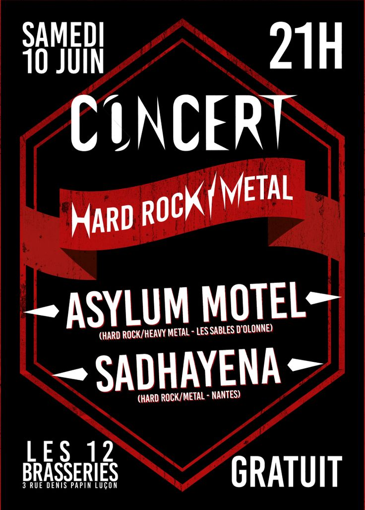 Concert Hard-Rock/Metal – Jefferson rosier Graphiste