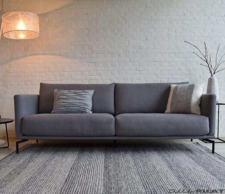 Grijze bank Rixt met losse rug en zitkussens - Woonwinkel Alle Pilat
