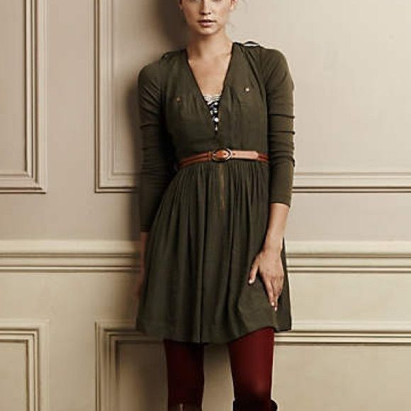 Anthropologie d'armee dress in gray Worn a few times. Great condition. Anthropologie Dresses