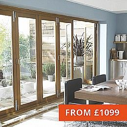 Wooden Bifold Doors - Oak and Hardwood Folding Sliding Patio doors