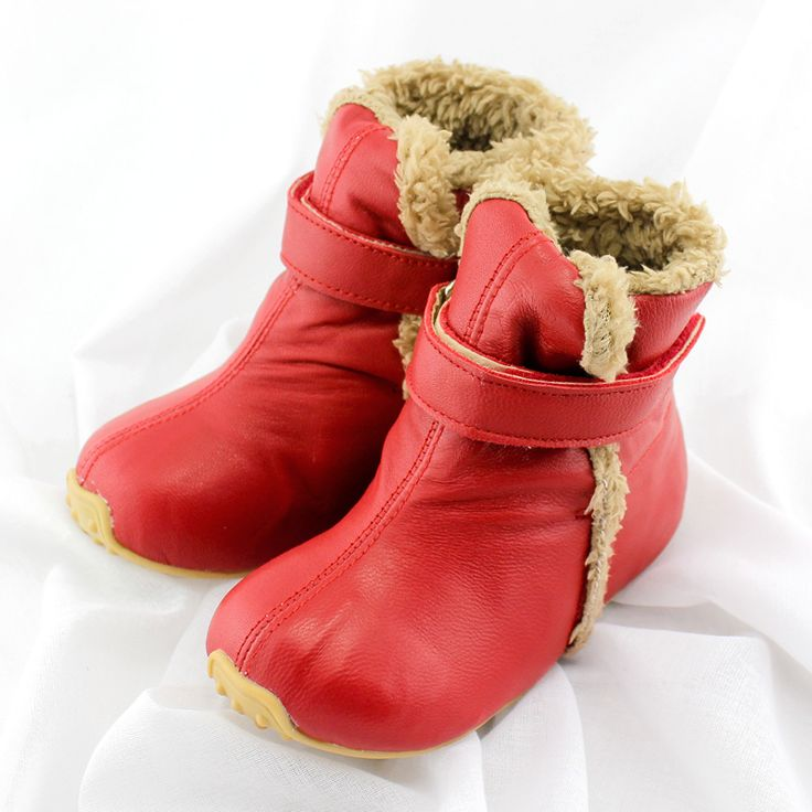 TipsieToes Top Quality Genuine Leather Wool Children Shoes For Boys And Girls Kids Autumn Winter Warm Boots 64001 Free shipping