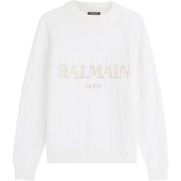 44f8165399 Balmain Embellished Angora Pullover ( 1