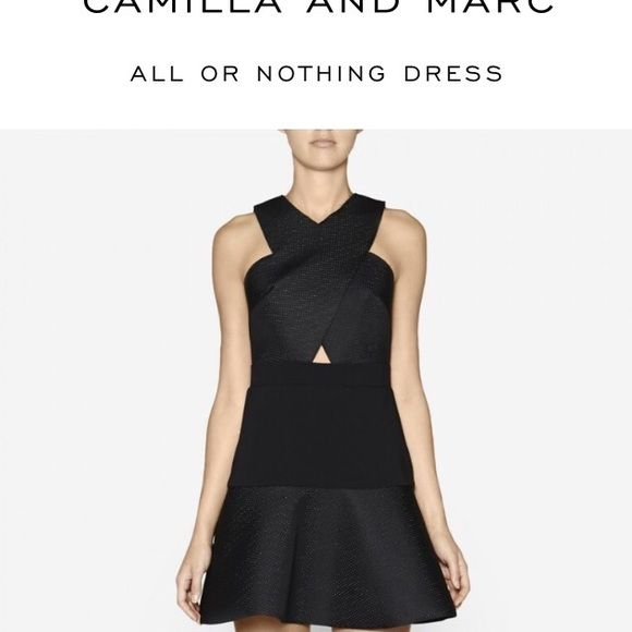 Camila and Marc dress Camila snd Marc Black ... All or Nothing dress... Never been worn... With tags and original box and invoice... Rubbery material with black dots camilla & marc Dresses Mini