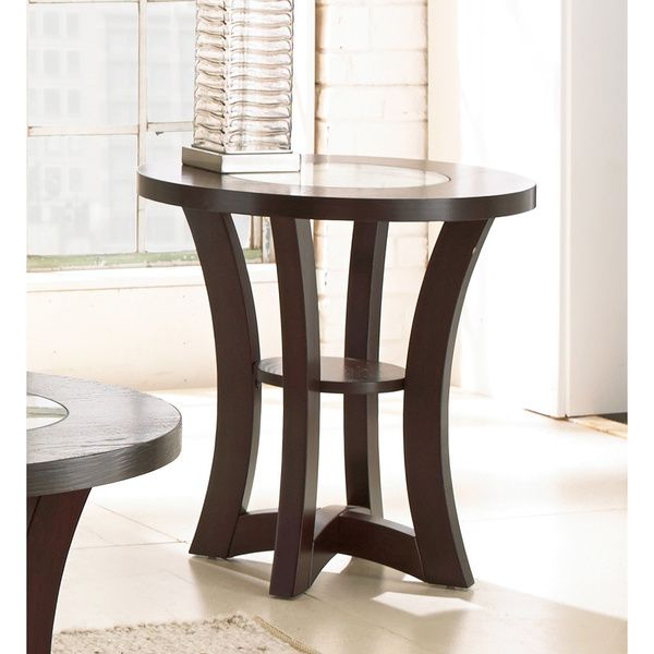 Greyson Living Amia Espresso Round End Table Overstock.com $150    Dimensions: 24 Inches