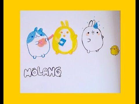 Molang cartoon Disney junior characters drawing coloring - YouTube