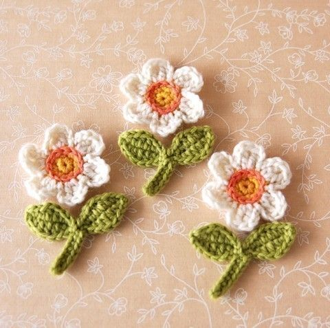 Crochet wool applique