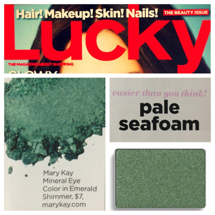 Get this season's hottest eye look straight off the runway! Lucky Magazine recommends blending Mary Kay® Mineral Eye Color in Emerald for a pretty pale seafoam eye look.