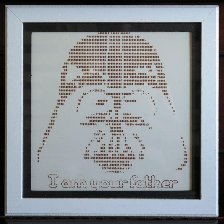 Quadro ASCII Art - Darth Vader by ArqueosTrinkets on Etsy
