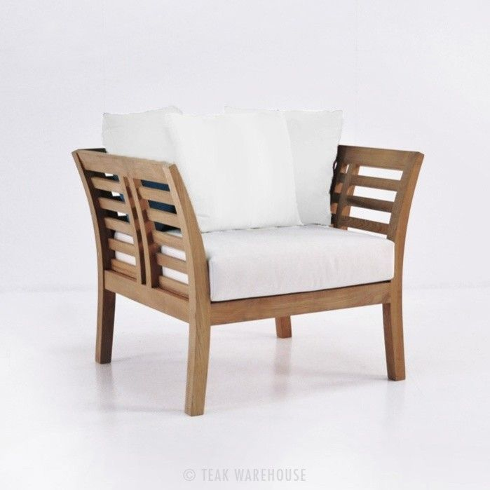 Plantation Teak Outdoor Club Chair 0