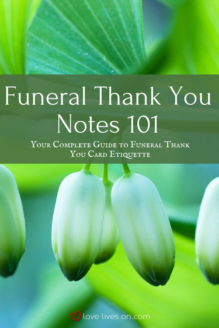 Etiquette writing thank you notes after funeral