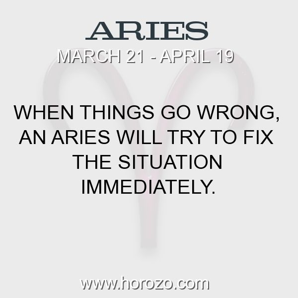 Fact about Aries: When things go wrong, an Aries will try to fix the... #aries, #ariesfact, #zodiac. More info here: https://www.horozo.com/blog/when-things-go-wrong-an-aries-will-try-to-fix-the/ Astrology dating site: https://www.horozo.com