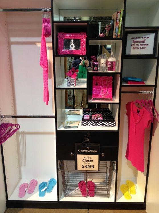 Pink U0026 Black Closet, From Closets By Design Columbus