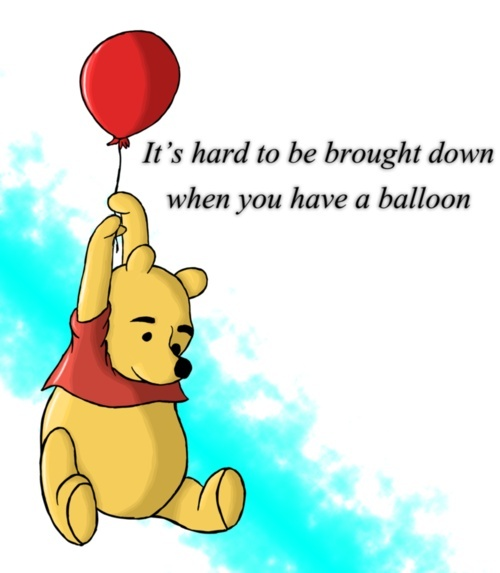 Winnie the Pooh Party - Hand out a red balloon as a parting gift at the end of the party, or incorporate the red balloon in the decor (a whole ceiling of red balloons!)