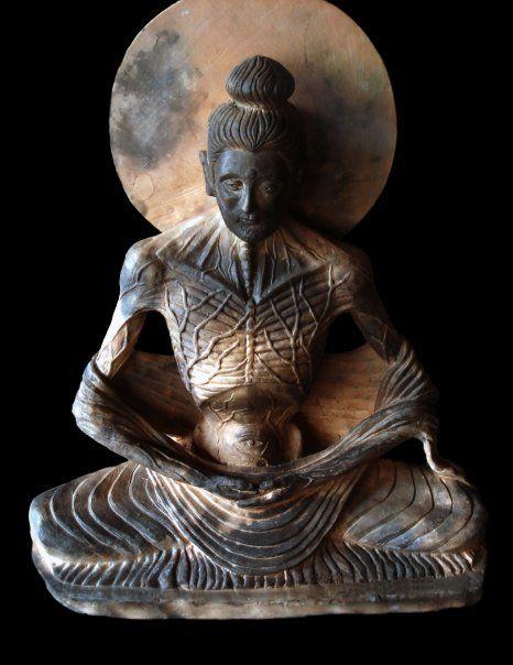Fasting Buddha - Terracotta sculpture 2007