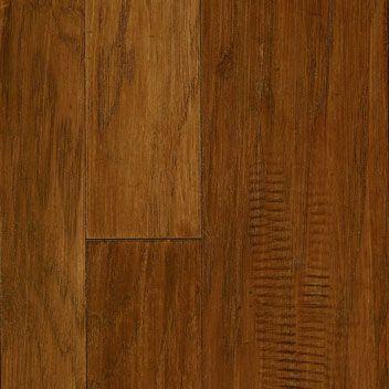 Handscraped Hardwood Flooring Gray Brown Kitchen