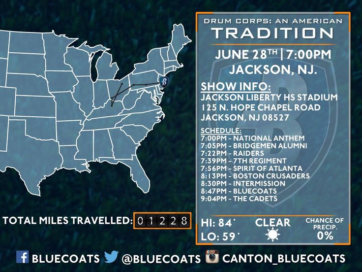 Bluecoats 2014 Tour - Jackson, NJ