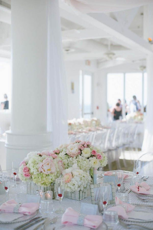 Modern outdoor over-water ceremony at Hyatt Key West Resort & Spa followed by an airy indoor reception (Margot Landen Photography)