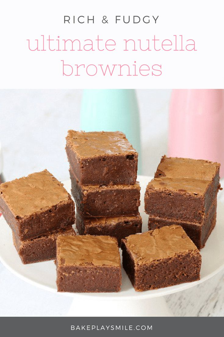 For a rich and decadent treat that's sure to satisfy the biggest of chocoholics, these Chocolate Nutella Brownies are the best things ever! #nutella #chocolate #brownies #best #recipe #thermomix #conventional #easy