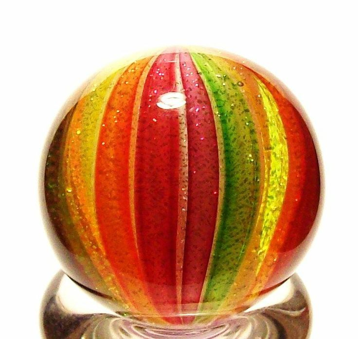 """EDDIE SEESE ART GLASS 1"""" EXOTIC DICHROIC CLAMBROTH MARBLE #EddieSeese #Glass Like a big piece of yummy candy!!!!!"""